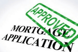 Mortgage Application Approved Stamp Shows Home Loan Agreed